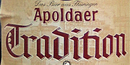 Apoldaer Tradition (Etikettausschnitt)
